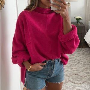 Sweaters - Oversized pink sweater